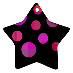 Pink Abstraction Ornament (star)  by Valentinaart