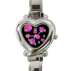Pink Abstraction Heart Italian Charm Watch by Valentinaart