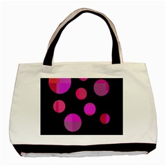 Pink Abstraction Basic Tote Bag (two Sides) by Valentinaart