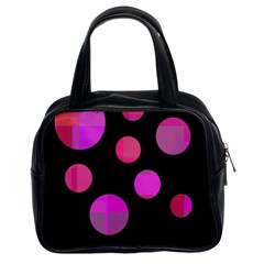 Pink Abstraction Classic Handbags (2 Sides) by Valentinaart