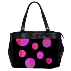 Pink Abstraction Office Handbags (2 Sides)  by Valentinaart
