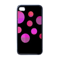 Pink Abstraction Apple Iphone 4 Case (black) by Valentinaart