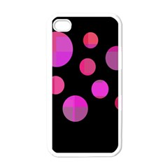 Pink Abstraction Apple Iphone 4 Case (white) by Valentinaart