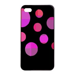 Pink Abstraction Apple Iphone 4/4s Seamless Case (black) by Valentinaart