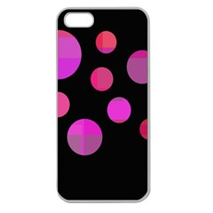 Pink Abstraction Apple Seamless Iphone 5 Case (clear) by Valentinaart