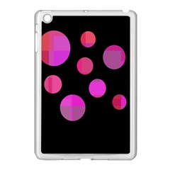 Pink Abstraction Apple Ipad Mini Case (white) by Valentinaart