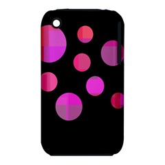 Pink Abstraction Apple Iphone 3g/3gs Hardshell Case (pc+silicone) by Valentinaart