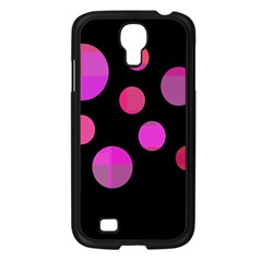 Pink Abstraction Samsung Galaxy S4 I9500/ I9505 Case (black) by Valentinaart