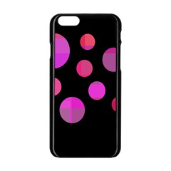 Pink Abstraction Apple Iphone 6/6s Black Enamel Case by Valentinaart