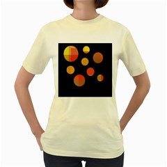 Orange Abstraction Women s Yellow T Shirt
