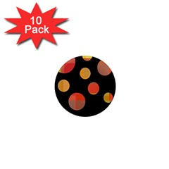 Orange Abstraction 1  Mini Magnet (10 Pack)