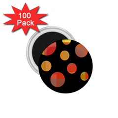 Orange Abstraction 1 75  Magnets (100 Pack)