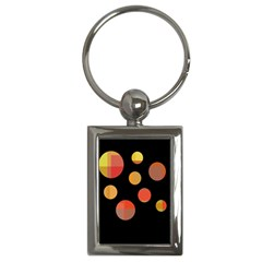 Orange Abstraction Key Chains (rectangle)  by Valentinaart