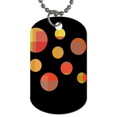 Orange Abstraction Dog Tag (one Side)
