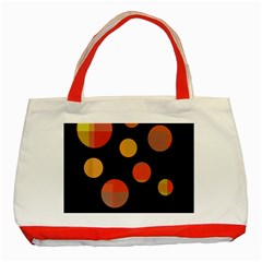 Orange Abstraction Classic Tote Bag (red) by Valentinaart