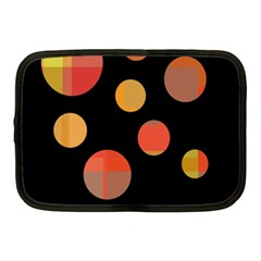 Orange Abstraction Netbook Case (medium)  by Valentinaart