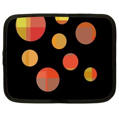 Orange Abstraction Netbook Case (xl)  by Valentinaart