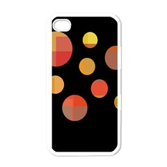Orange Abstraction Apple Iphone 4 Case (white) by Valentinaart