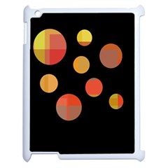 Orange Abstraction Apple Ipad 2 Case (white) by Valentinaart