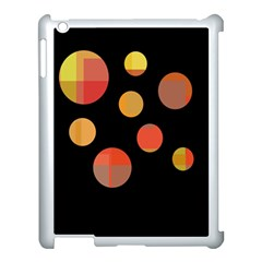 Orange Abstraction Apple Ipad 3/4 Case (white) by Valentinaart