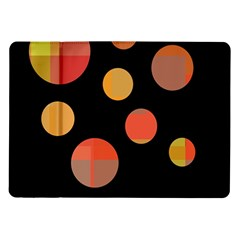 Orange Abstraction Samsung Galaxy Tab 10 1  P7500 Flip Case by Valentinaart