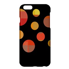Orange Abstraction Apple Iphone 6 Plus/6s Plus Hardshell Case by Valentinaart