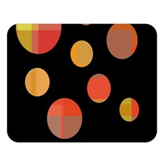 Orange Abstraction Double Sided Flano Blanket (large)  by Valentinaart