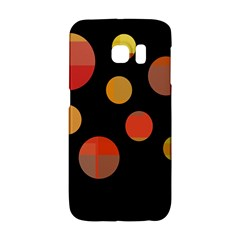Orange Abstraction Galaxy S6 Edge by Valentinaart