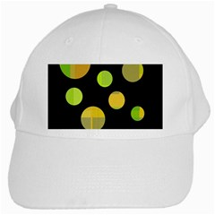 Green Abstract Circles White Cap by Valentinaart