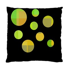 Green Abstract Circles Standard Cushion Case (one Side) by Valentinaart