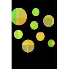 Green Abstract Circles 5 5  X 8 5  Notebooks by Valentinaart