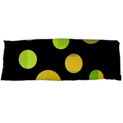 Green Abstract Circles Body Pillow Case (dakimakura) by Valentinaart
