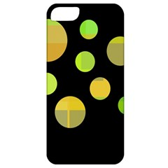 Green Abstract Circles Apple Iphone 5 Classic Hardshell Case by Valentinaart