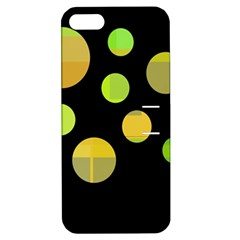 Green Abstract Circles Apple Iphone 5 Hardshell Case With Stand by Valentinaart