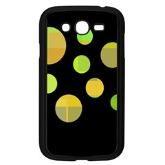 Green Abstract Circles Samsung Galaxy Grand Duos I9082 Case (black) by Valentinaart