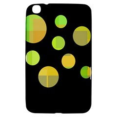 Green Abstract Circles Samsung Galaxy Tab 3 (8 ) T3100 Hardshell Case  by Valentinaart