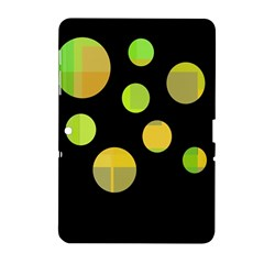 Green Abstract Circles Samsung Galaxy Tab 2 (10 1 ) P5100 Hardshell Case  by Valentinaart