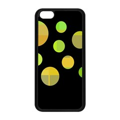 Green Abstract Circles Apple Iphone 5c Seamless Case (black) by Valentinaart