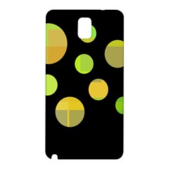 Green Abstract Circles Samsung Galaxy Note 3 N9005 Hardshell Back Case by Valentinaart