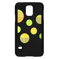 Green Abstract Circles Samsung Galaxy S5 Case (black) by Valentinaart