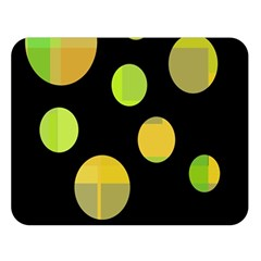 Green Abstract Circles Double Sided Flano Blanket (large)  by Valentinaart