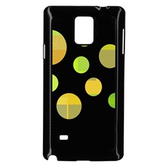 Green Abstract Circles Samsung Galaxy Note 4 Case (black) by Valentinaart