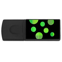 Green Circles Usb Flash Drive Rectangular (4 Gb)