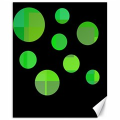 Green Circles Canvas 16  X 20   by Valentinaart