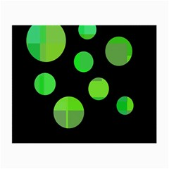 Green Circles Small Glasses Cloth (2-side) by Valentinaart