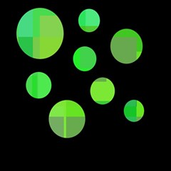 Green Circles Magic Photo Cubes by Valentinaart