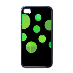 Green Circles Apple Iphone 4 Case (black) by Valentinaart