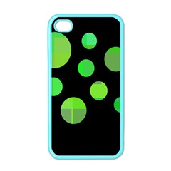 Green Circles Apple Iphone 4 Case (color) by Valentinaart