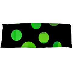 Green Circles Body Pillow Case (dakimakura) by Valentinaart