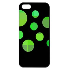 Green Circles Apple Iphone 5 Seamless Case (black) by Valentinaart
